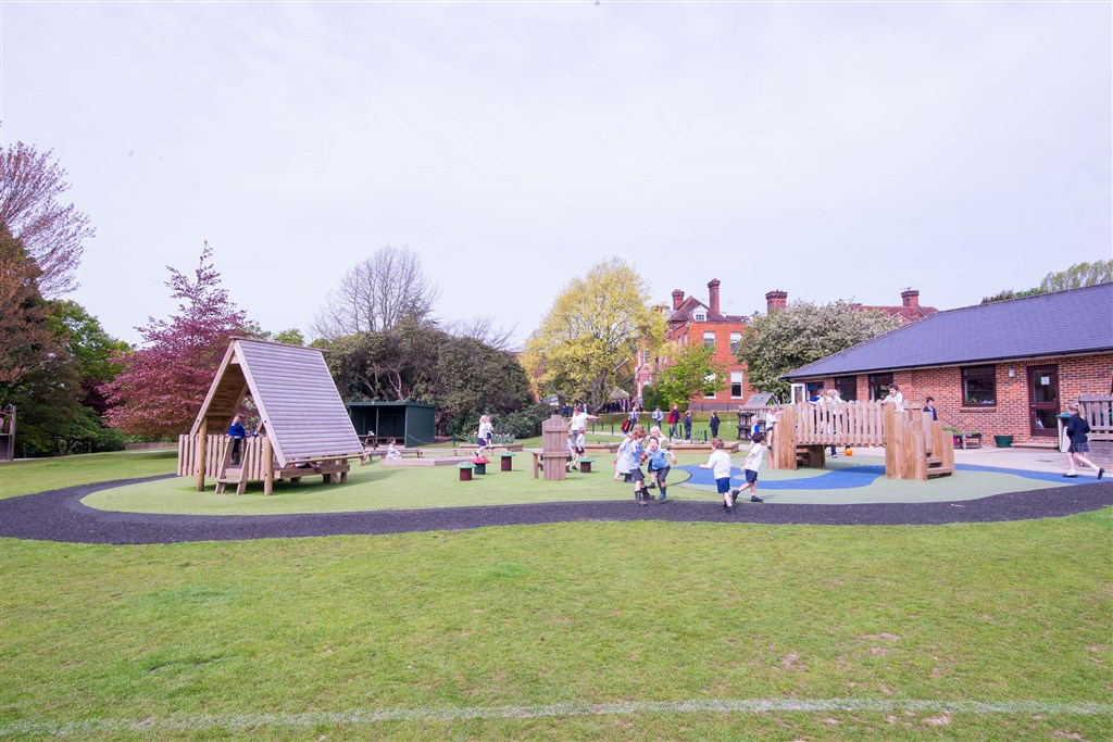 School children playing