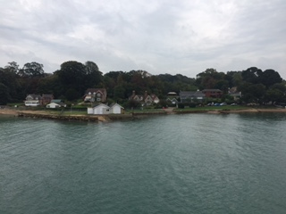Photograph of the Isle of Wight from Ferry