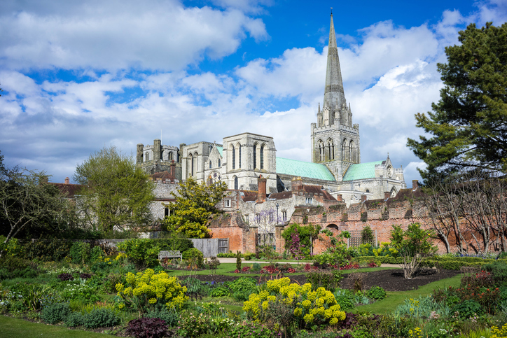 Photograph of Chichester Cathedral and the Gardens